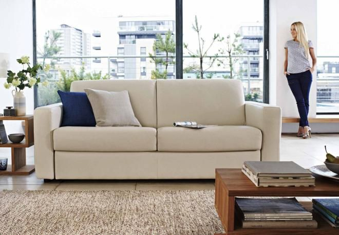 5b828848d0bc 2 Seater Leather Sofa Bed - Private Label By Natuzzi Arona - Gorgeous  Living Room Furniture from Furniture Village