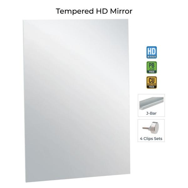 Fab Glass And Mirror 36 In X 60 In Rectangle Frameless Flat Polish Mirror With Safety Backing Mrec36x60be6mm The Ho In 2020 Gym Mirrors Mirror Kit Home Gym Mirrors