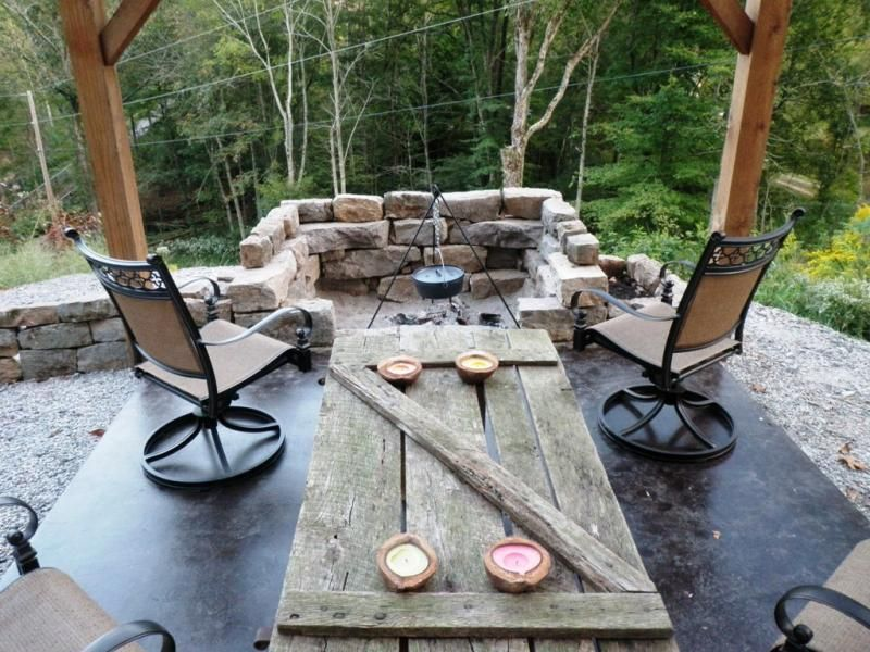 Backyard Fire Pit Designs Rock Walls Outdoor Fire Pit