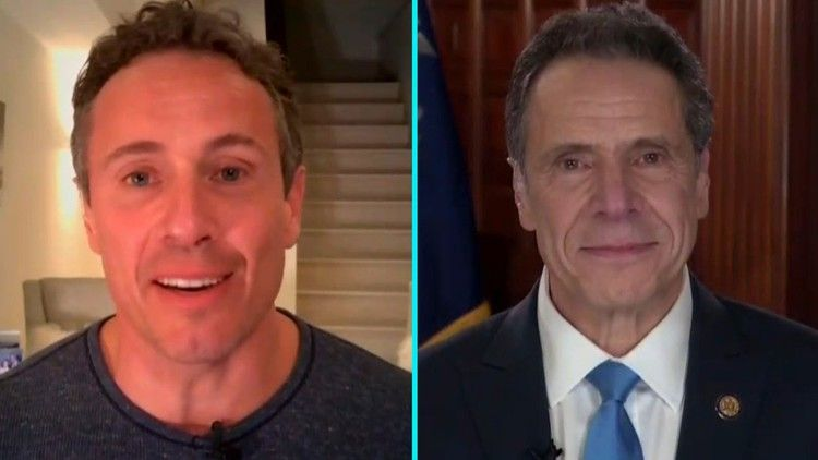 Chris Cuomo Teases Brother Andrew During Interview With Throwback Photo Entertainment Tonight In 2020 Chris Cuomo Photo Entertainment Interview
