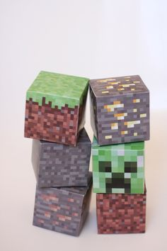 Printable Minecraft blocks // Free Download - Pure Sweet Joy