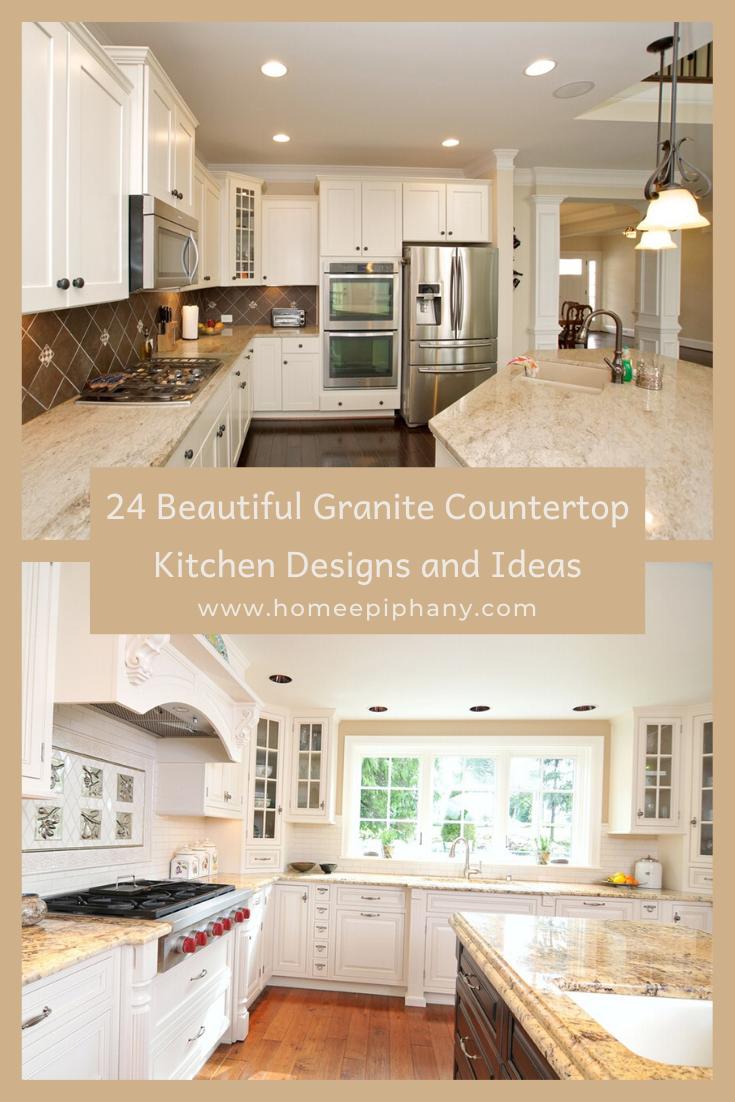 24 Beautiful Granite Countertop Kitchen Ideas In 2020 Granite