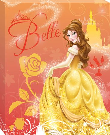 Disney Beauty and the Beast - Belle Castle Canvas Stretched Canvas Print at AllPosters.com