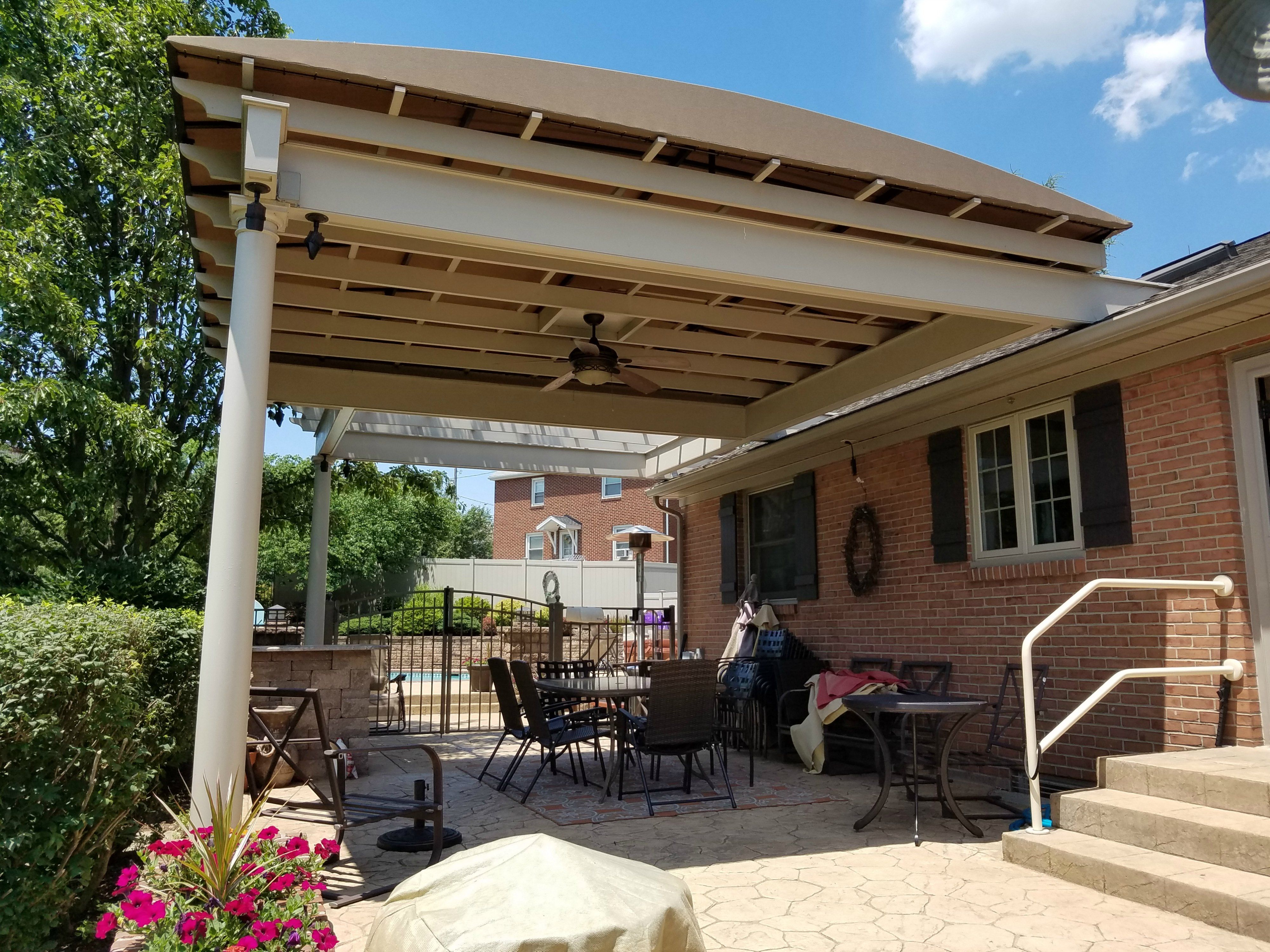 Pergolas provide a cozy feel but are lacking when it es to