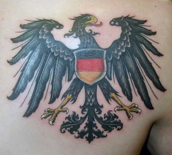 50 german eagle tattoo designs for men germany ink ideas gentleman with german eagle old school tattoo design publicscrutiny Image collections