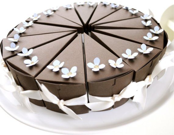 Paper Chocolate Cake Favor Bo Whole