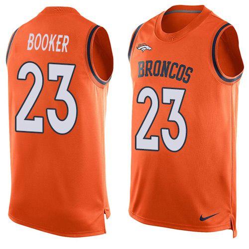 men s nike denver broncos 23 devontae booker limited orange player rh pinterest com