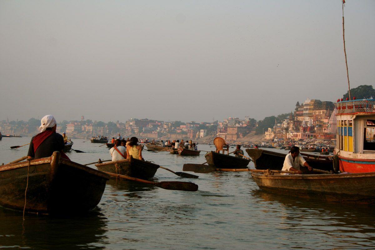 Sunrise at Ganges River in Varanasi, India | Around the ...