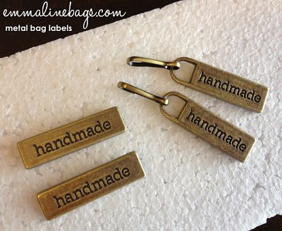 Metal Bag Labels And Zipper Pulls Handmade For Your Bags Purses