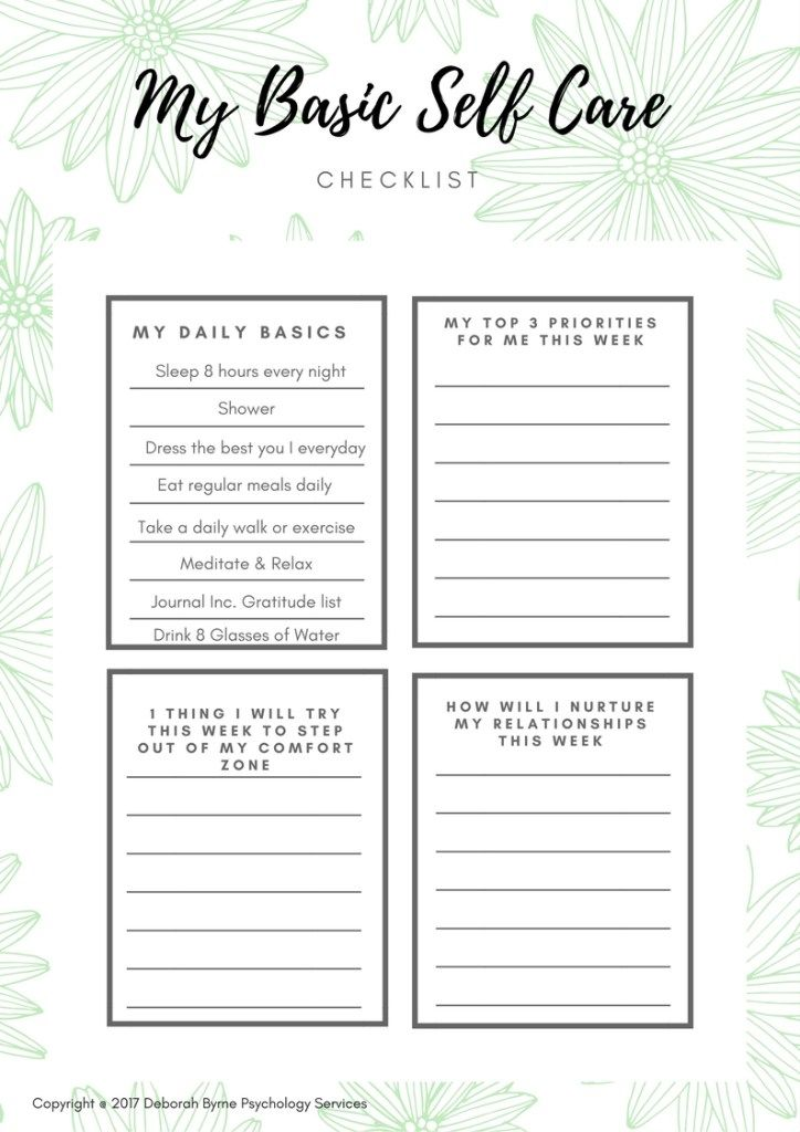 Free Resources | Self care activities, Self, Self help