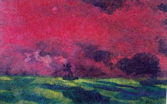 EMIL NOLDE Green Sea under Reddish-Brown Sky (Two Steamers)