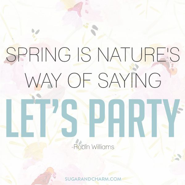Happy First Day Of Spring Sugar And Charm Robin Williams Beautiful Quotes Sayings