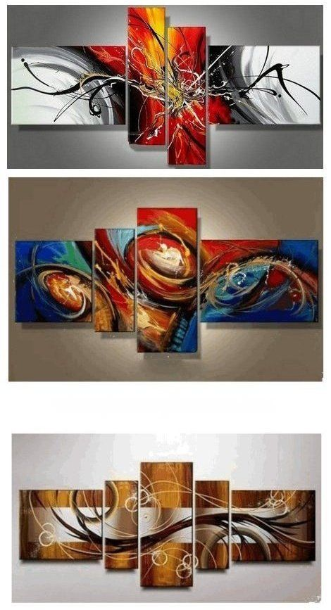 Canvas Art Painting Abstract Painting Acrylic Art 4 Piece Wall Art Canvas Painting Hand Painted Art Group Painting Canvas Art Painting Abstract Wall Art Canvas Painting Hand Painting Art