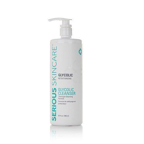 Serious Skincare Supersupersize Glycolic Cleanser At Hsn Com Glycolic Cleanser Skin Care Glycolic Skincare
