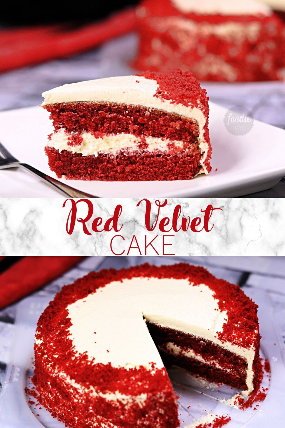 Red Velvet Cake With Cream Cheese Frosting In 2020 Red Velvet Cake Velvet Cake Light Chocolate Cake