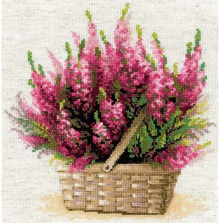 Riolis Scottish Heather Flowers Cross Stitch Kit Cross Stitch Flowers Cross Stitch Cross Stitch Patterns