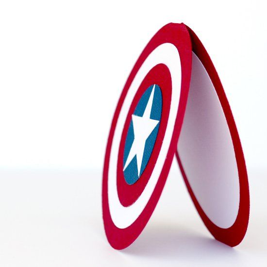 Make This Captain America Card For A Birthday Party Or Use It As An