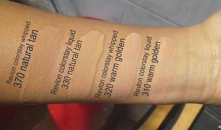 Colorstay Whipped And Liquid Swatch Foundation Colors Great