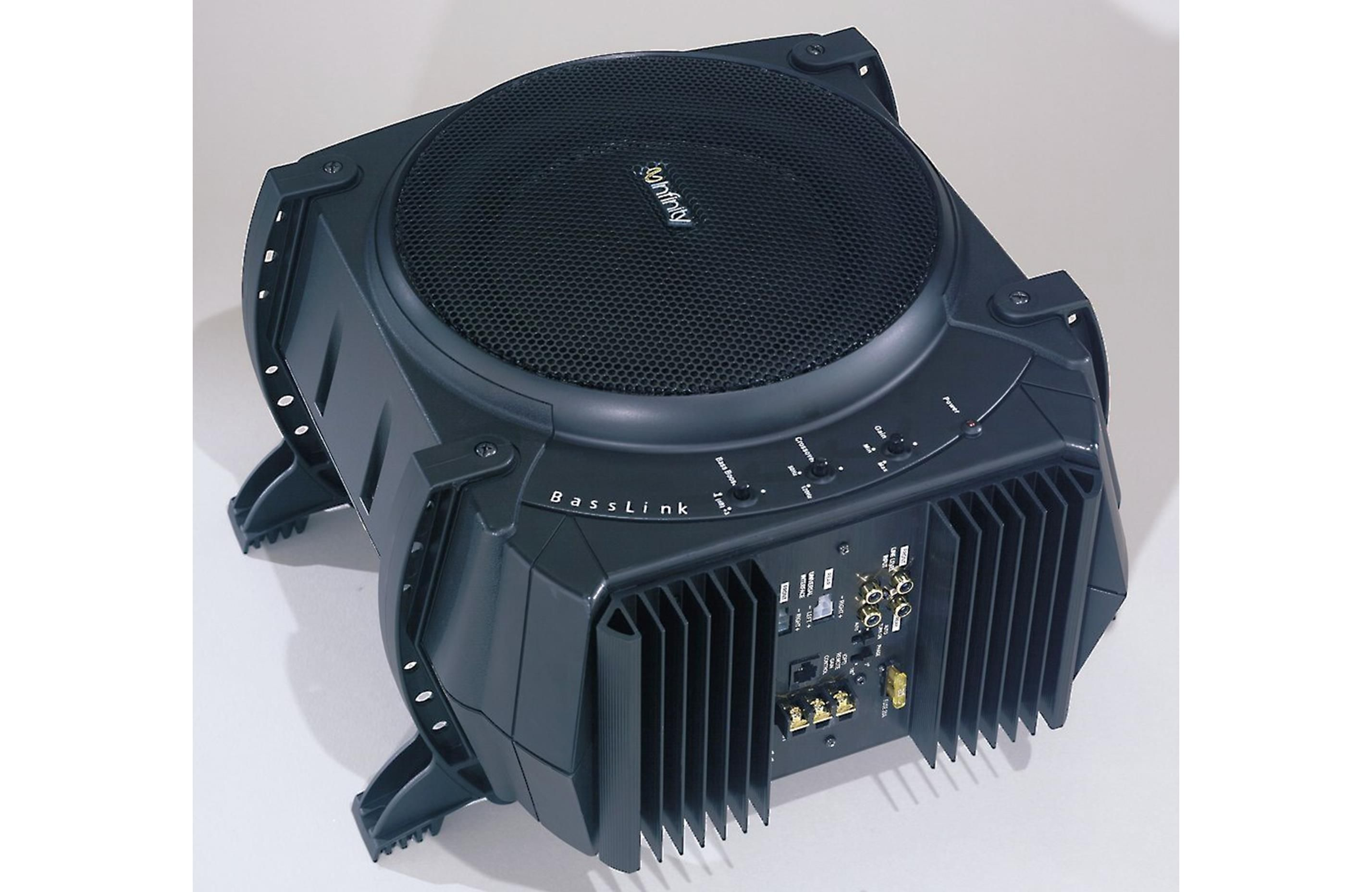 infinity 10 sub. infinity basslink powered subwoofer: 200 watts and a 10\ 10 sub