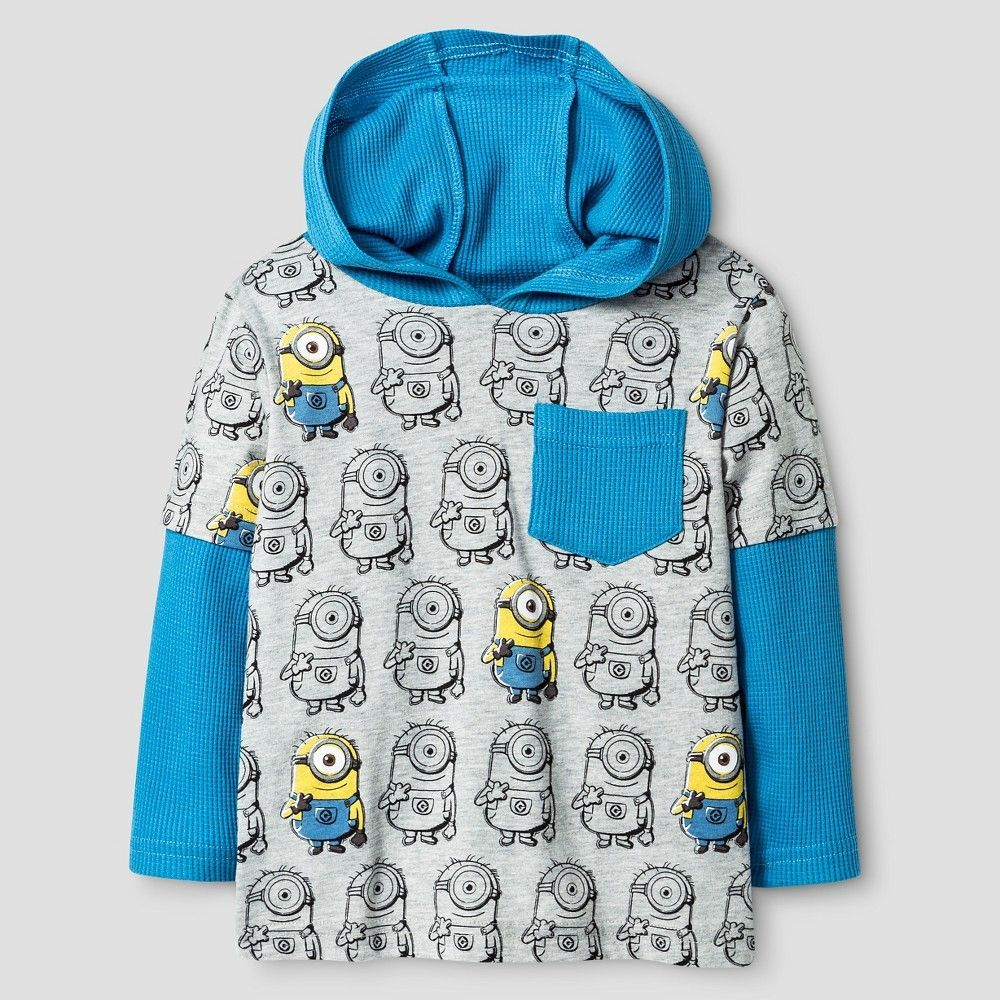 Minions Toddler Boys' Pullover Top with Fleece Pant 4T - Gray, Toddler Boy's
