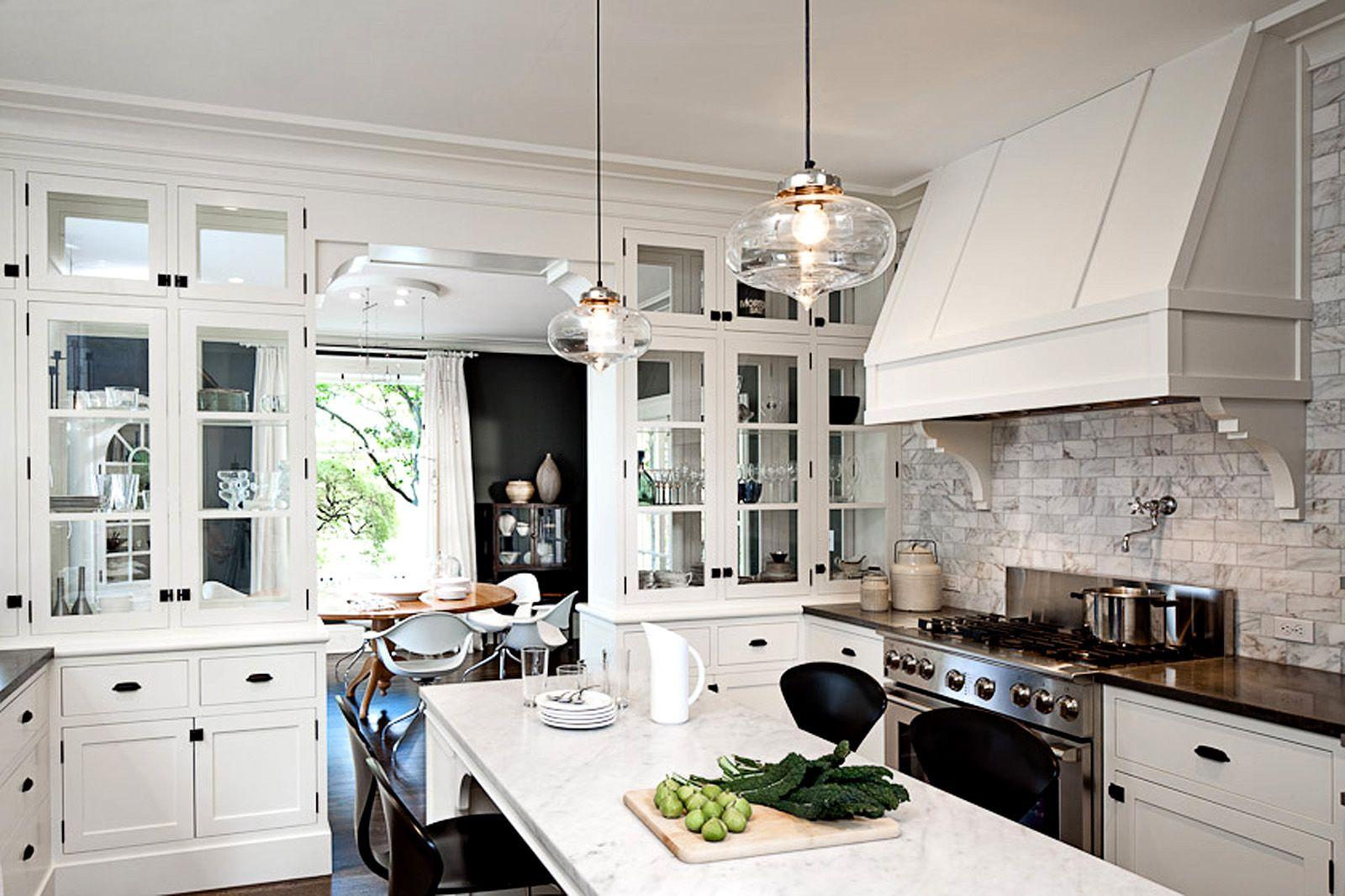 Back Splash Love It Double Sided Glass Cabinets Kitchen Inspirations Kitchen Design Kitchen Remodel