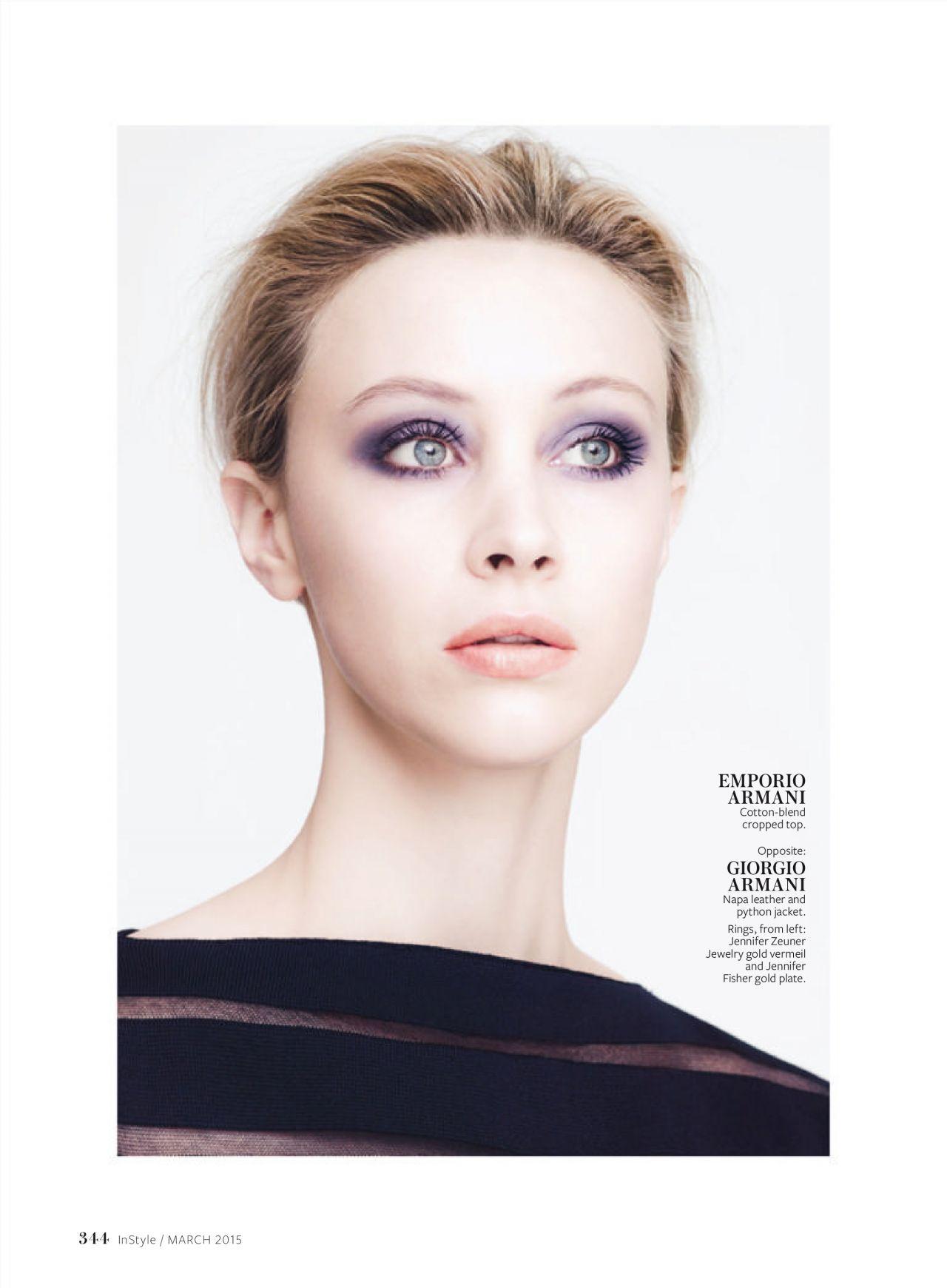 Sarah Gadon InStyle March 2015