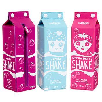 Milk Carton Shakes Pencil Case from smiggle.com.au | tops, sets,