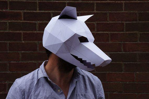 Hacer tu propia máscara de hombre lobo por Wintercroft en Etsy