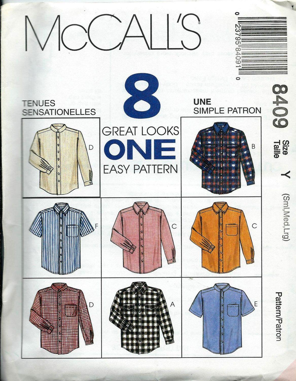 8d048448a33 McCall s 8409 Men s Simple Shirt Pattern