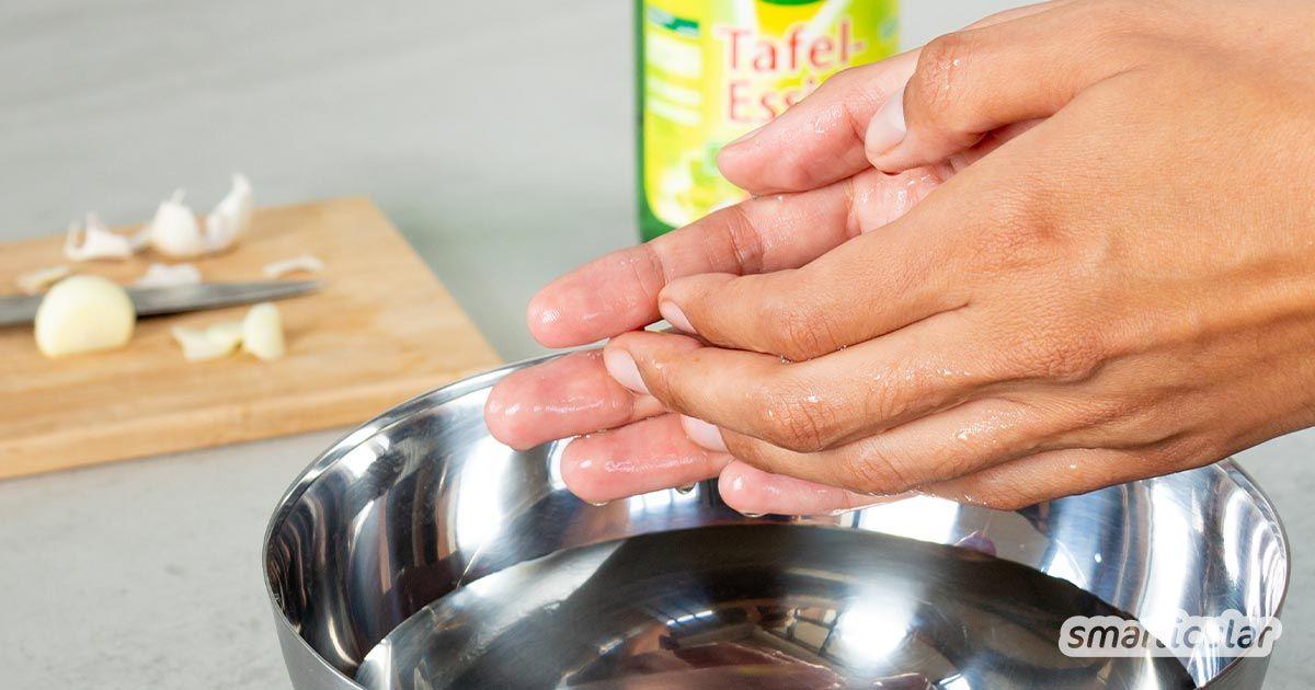 Knoblauch Und Zigarettengeruch Neutralisieren Mit Essig So Geht S Knoblauch Geruch Knoblauchgeruch Loswerden Und Hausmittel