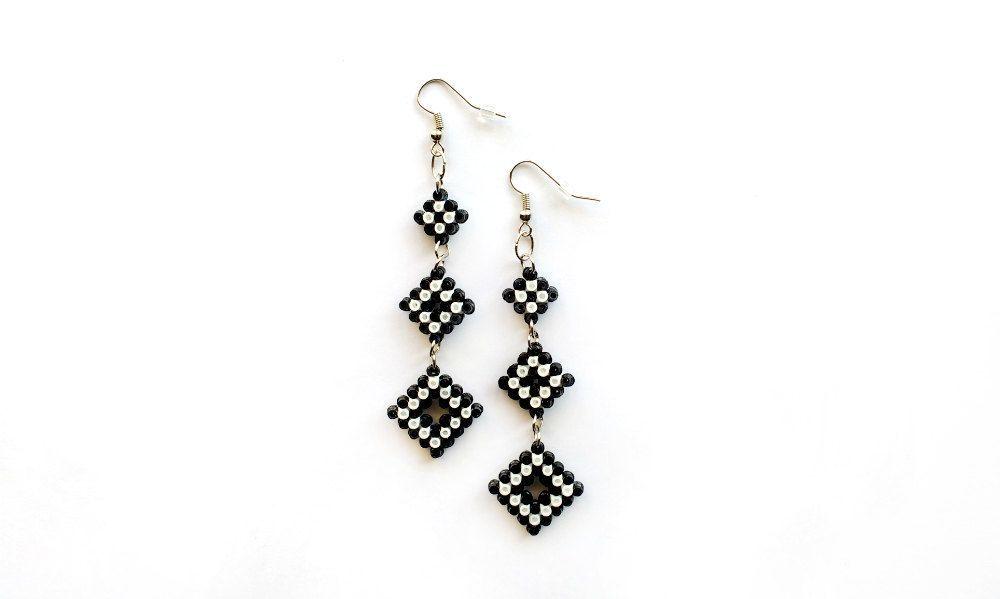 Triple Dangle Earrings Mini Perler Beads Mini di 8BitEarrings