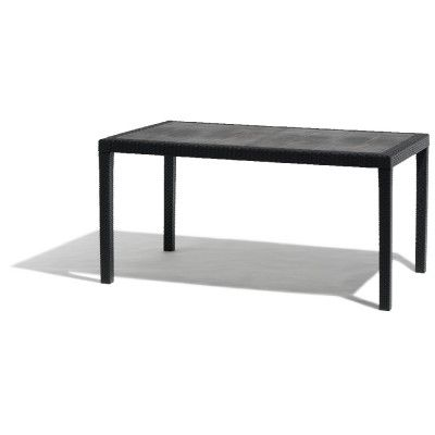 Table rectangulaire imitation résine gris anthracite | Airs, Gifi ...