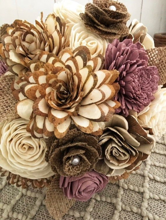 Rustic Romance Collection DIY Rustic Wood Flower Bouquet