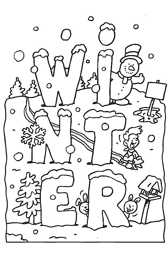 Winter Coloring Activity Worksheet Coloring Pages Winter Winter Printables Preschool Coloring Pages