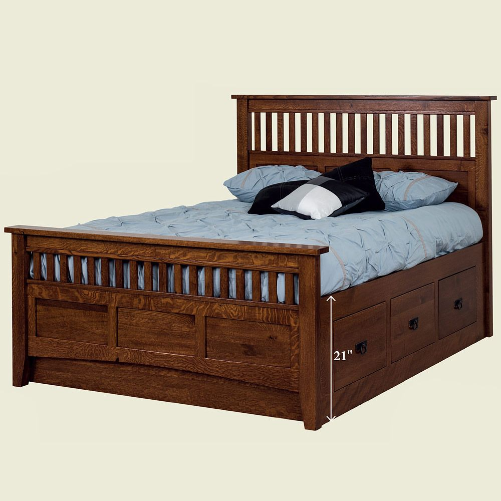 Subtle Elegance Prevails In This Exceptional Handcrafted Amish Bed