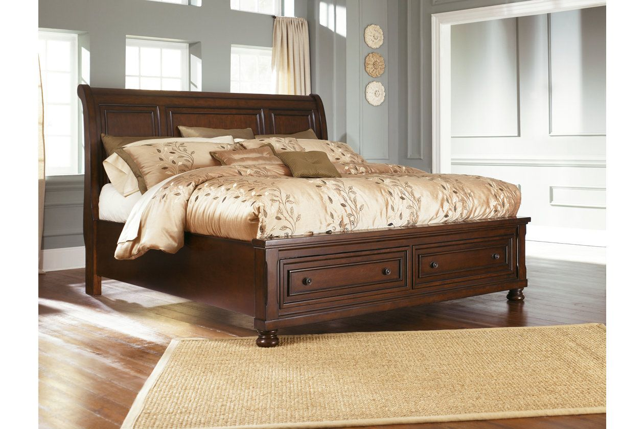 Porter Queen Sleigh Bed Ashley Furniture Homestore Ashley Furniture Bedroom King Storage