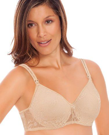 e7a4c20e09f5a Lamaze Maternity Womens Soft Fancy Lace Underwire Nursing Bra Skin 42D --  Visit the image link more details. Note:It is affiliate link to Amazon.