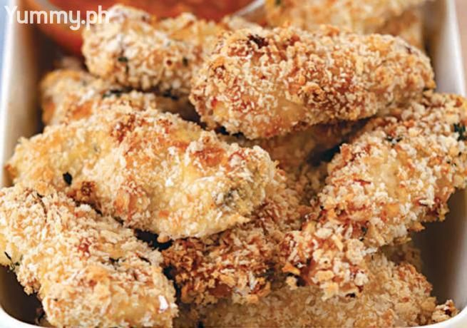 These chicken fingers are baked instead of fried, but still retain that yummy crunch!