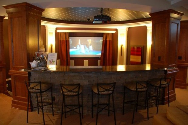 Photo of Circular home bar and theater, lounge, theater, home theater, leisure room …, #Stay …