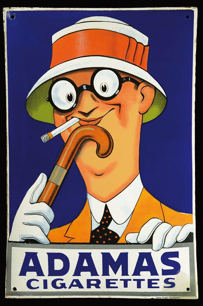 Adamas Cigarettes adamas cigarettes sign | vintage & antique advertising/posters