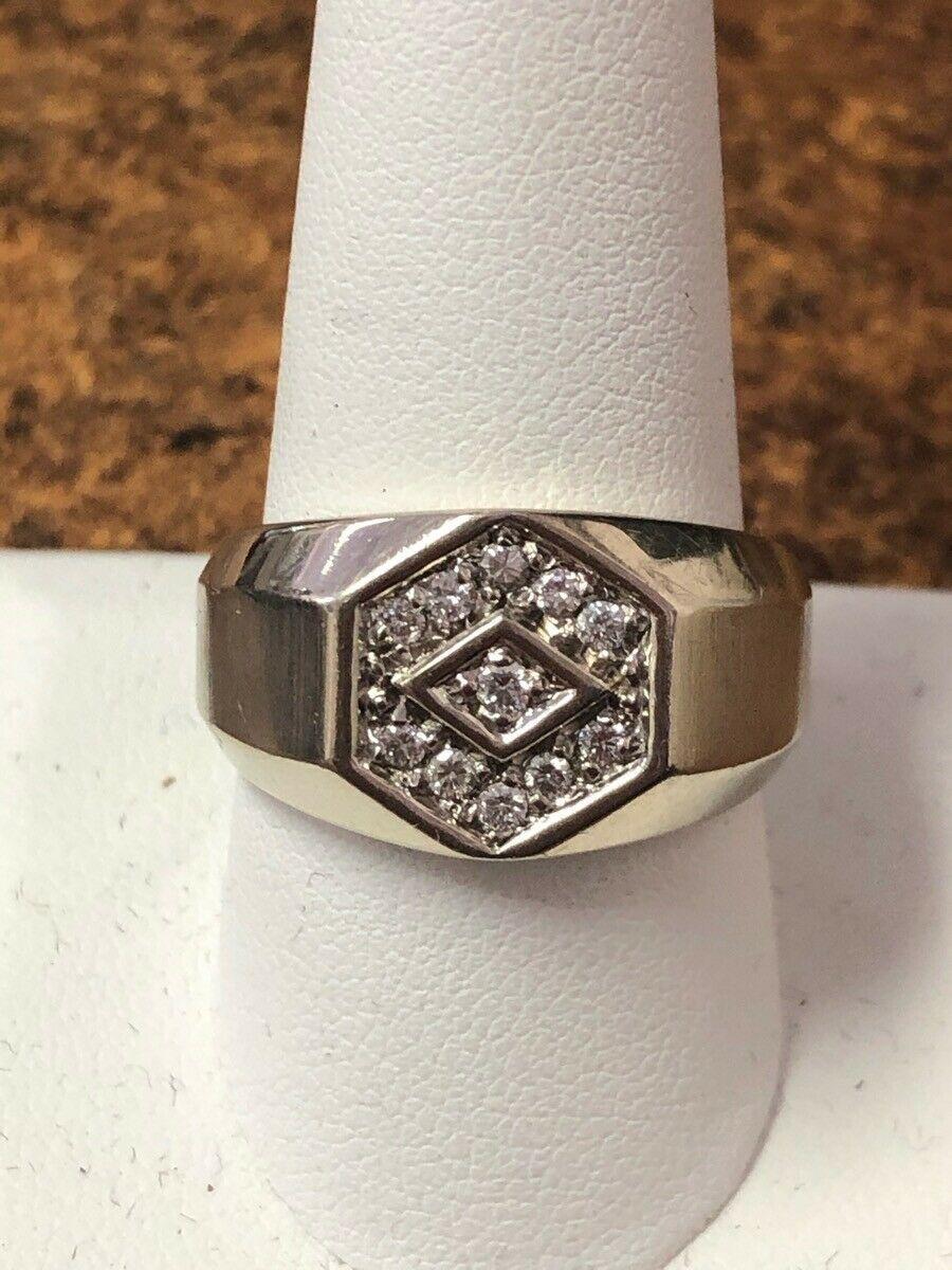 Gents Diamond Fashion Ring 11 Diamonds 11 Carat T W 14k White Gol Sh1003180 Fashion Diamond Rings I In 2020 Diamond Fashion Rings Diamond Fashion Fashion Rings