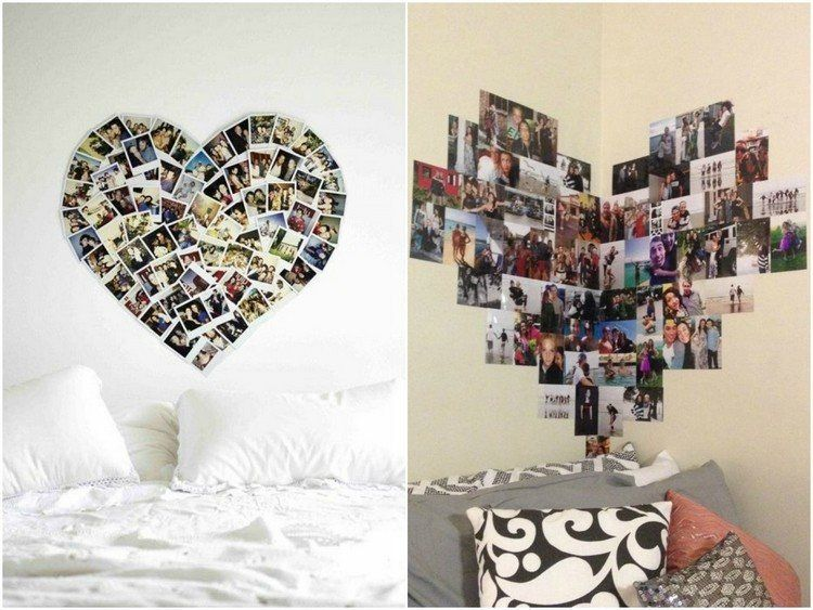 collage aus fotos in herzform selber machen jugendzimmer pinterest herzform collage und. Black Bedroom Furniture Sets. Home Design Ideas