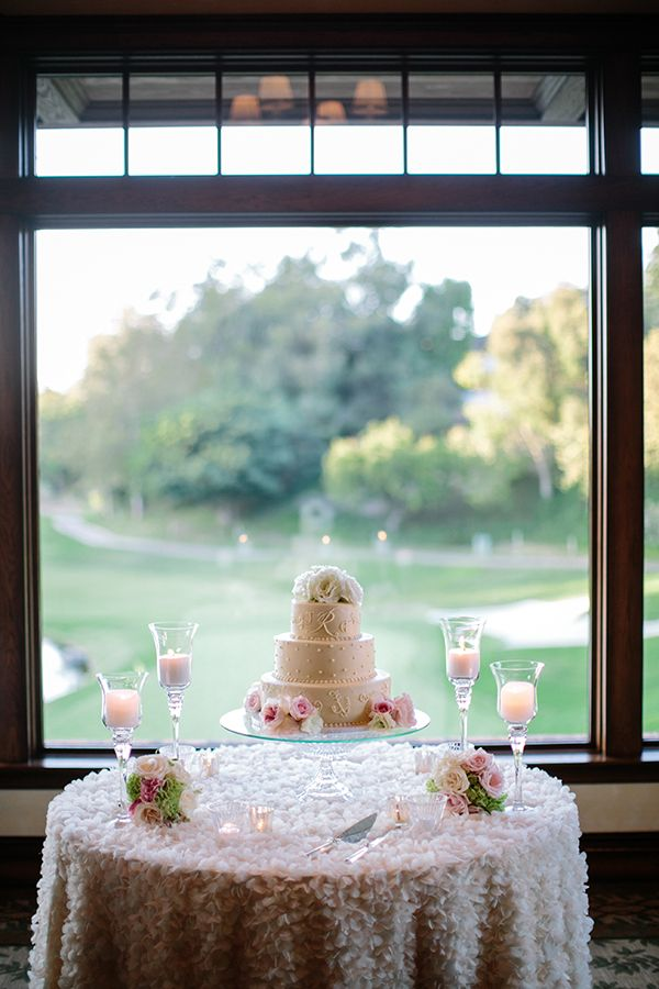 Newport Beach Glittery Pink Wedding Wedding Cake Table Wedding Cake Table Decorations Country Wedding Cakes