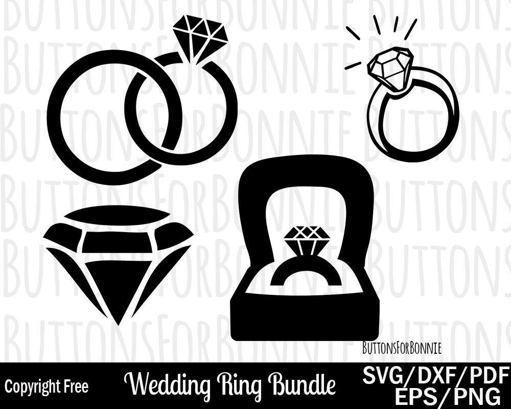 Wedding ring svg, ring svg, wedding svg, diamond svg ...