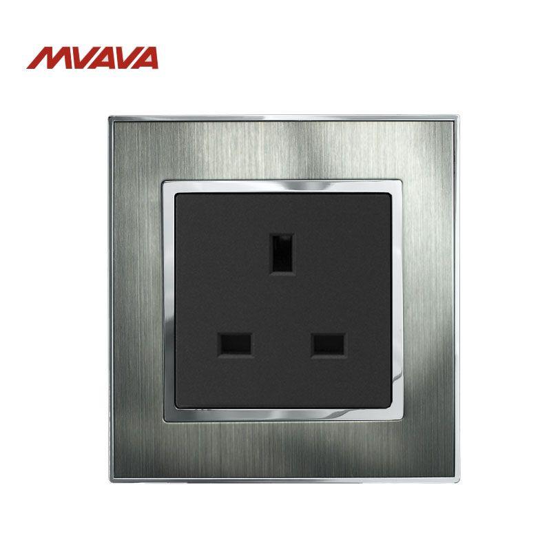 MVAVA 13A Wall Socket UK Standard Receptacle Decorative Wall Plug ...