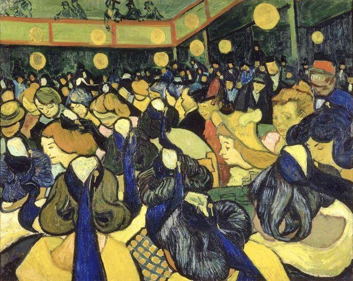 Vincent Van Gogh Dance Hall In Arles 1888 Musee D Orsay