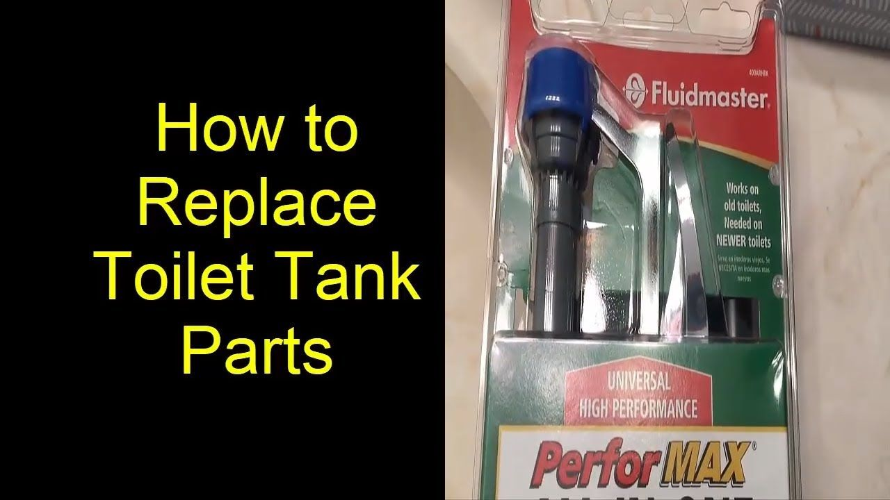 How To Replace All Internal Toilet Tank Parts Using Fluidmaster