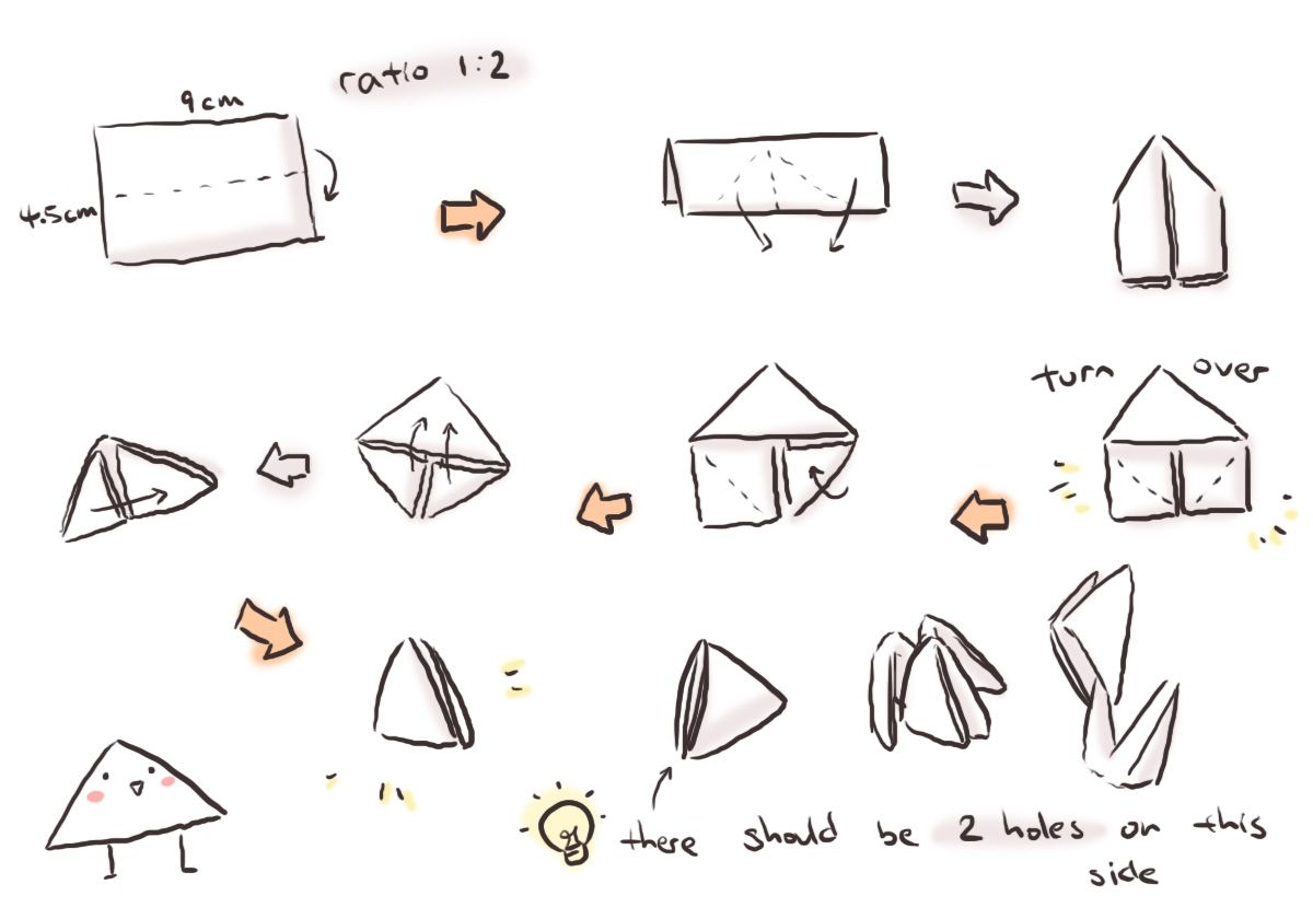 3d origami triangles