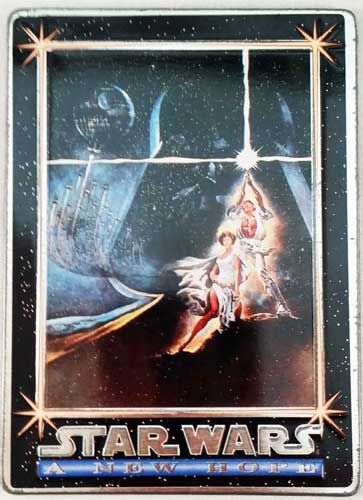 Star Wars A New Hope Metal Trading Card 1994 Promotional Sample Visit Our Store Star Wars Cards Star Wars Cool Business Cards