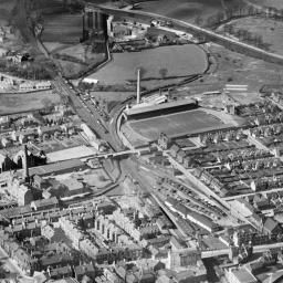 Falkirk General View Showing High Street And Brockville Football Stadium Oblique Aerial Photograph Taken Facing North Wes Football Stadiums Falkirk